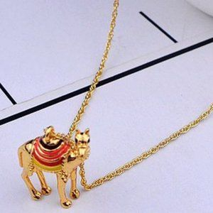 Kate Spade Enamel Glazed Camel Necklace